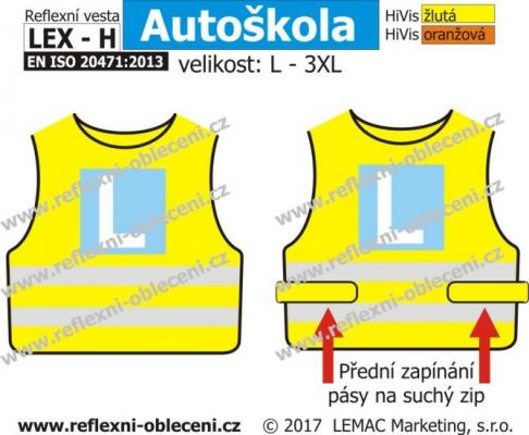 Reflexní vesta LEX Autoškola