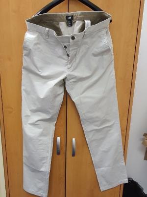 Pánské světlé (béžové) bavlněné kalhoty 52 (36/32)