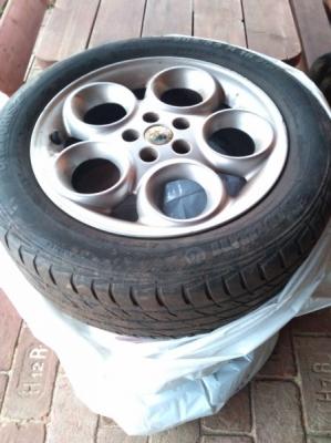 """Alu kola disky 16"""" Alfa Romeo (letní pneu Barum)"""